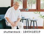 Old Asian Senior Man Feel Pain  ...