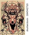 abbigliamento,tiro con l'arco,bestia,buck,cervi,fiorire,caccia,mostro,schizzo,teschio,addio al celibato,vignetta,coda,modello,trofeo