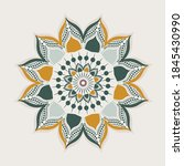 mandalas with decorative... | Shutterstock .eps vector #1845430990