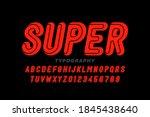 comic book superhero style font ... | Shutterstock .eps vector #1845438640