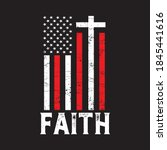 distressed usa flag cross with... | Shutterstock .eps vector #1845441616