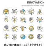 innovation icons  such as... | Shutterstock .eps vector #1845449569