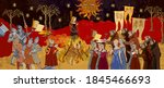 medieval scene. inquisition.... | Shutterstock .eps vector #1845466693