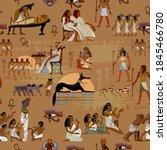 egypt seamless pattern.... | Shutterstock .eps vector #1845466780