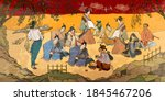 tradition and culture of asia.... | Shutterstock .eps vector #1845467206