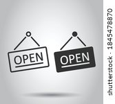 open sign icon in flat style.... | Shutterstock .eps vector #1845478870