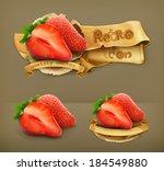 strawberry  retro vector icon | Shutterstock .eps vector #184549880