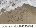 Happy New Year 2021 Text On Th...