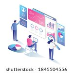 the concept of flat isometric... | Shutterstock .eps vector #1845504556