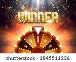 shining winner sign with wheel...   Shutterstock .eps vector #1845511336