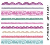 repeating borders collection of ...   Shutterstock . vector #184551554