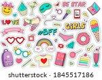 fashion patches doodle set....   Shutterstock .eps vector #1845517186