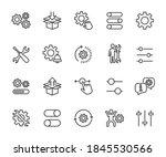 vector set of setup line icons. ...   Shutterstock .eps vector #1845530566