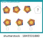 educational game for kids and... | Shutterstock .eps vector #1845531880