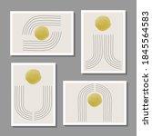trendy set of abstract creative ... | Shutterstock .eps vector #1845564583
