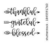 thankful grateful blessed  ... | Shutterstock .eps vector #1845591760