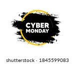 cyber monday sale. paint brush... | Shutterstock .eps vector #1845599083