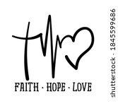 faith hope love   handwritten... | Shutterstock .eps vector #1845599686