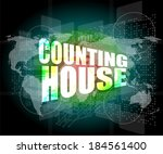 counting house words on digital ... | Shutterstock . vector #184561400