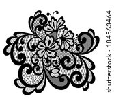 vintage lace ornament | Shutterstock .eps vector #184563464