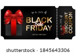 black friday sale coupon ticket....   Shutterstock .eps vector #1845643306