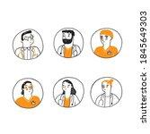 medical avatars set . medical... | Shutterstock .eps vector #1845649303