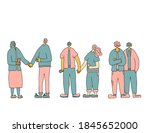 set of couples. family members. ...   Shutterstock . vector #1845652000
