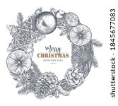 merry christmas and happy new... | Shutterstock .eps vector #1845677083