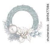 vector template for christmas... | Shutterstock .eps vector #1845677086