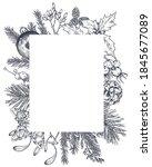 vector template for christmas... | Shutterstock .eps vector #1845677089