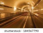 old elbe tunnel in hamburg ...