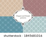 elegant and simple floral...   Shutterstock .eps vector #1845681016