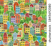 cityscape seamless pattern with ...   Shutterstock .eps vector #1845692080