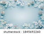Christmas frame  with festive...