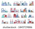 industrial building concept eco ... | Shutterstock .eps vector #1845729886
