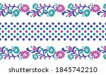 seamless colorful floral border ... | Shutterstock .eps vector #1845742210