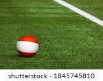 Austria Flag On Ball At Soccer...