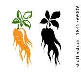 red ginseng emblem. ... | Shutterstock .eps vector #1845769009