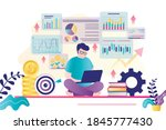 male character is taking an...   Shutterstock .eps vector #1845777430