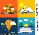 icons set of traveling ... | Shutterstock .eps vector #184577960