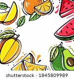 square background with... | Shutterstock .eps vector #1845809989