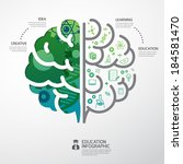 infographic template brain... | Shutterstock .eps vector #184581470