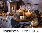 Autumn Terrace Or Patio In...