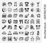 doodle hotel icons set | Shutterstock .eps vector #184581920