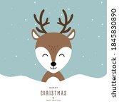 christmas reindeer cute...   Shutterstock .eps vector #1845830890