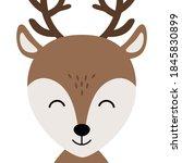 christmas reindeer cute...   Shutterstock .eps vector #1845830899