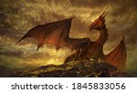 Gorgeous Fantasy Red Dragon Art ...