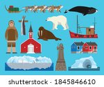 Flat Vector Illustration Set Of ...