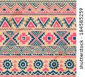 tribal vintage ethnic seamless... | Shutterstock .eps vector #184585259
