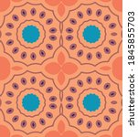 colorful ethnic bohemian... | Shutterstock .eps vector #1845855703